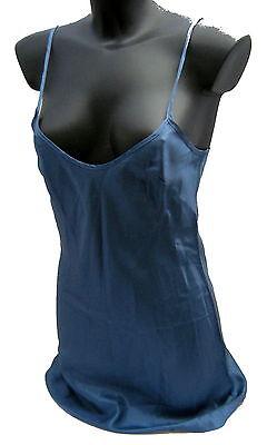 Sottoveste Liu Jo Donna Women Canotta Lunga Viscosa-acetato Blu Made In Italy Famoso Per Materiali Selezionati, Disegni Innovativi, Colori Deliziosi E Lavorazione Squisita
