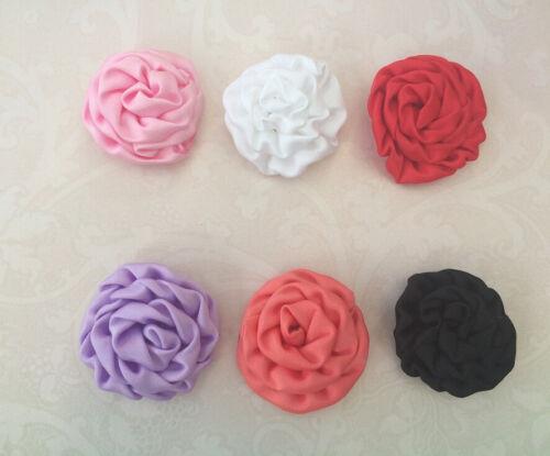 DIY mini Rolled Rosette Flower Embellishment Headband Handmade Craft