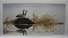 """Glenn OLSON """"Homemakers"""" LTD art print Canada Geese Family Certificate COA"""