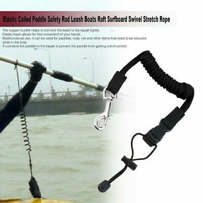 Elastic Safety Paddle Leash For Kayak Canoe Boat Fishing Cord Rod Lanyard F2J2
