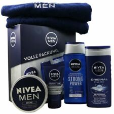 NIVEA MEN 5tlg Geschenkset SG & Shampoo & Gesichtscreme & Creme & Gästehandtuch