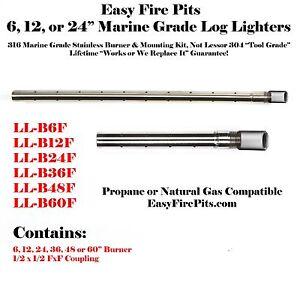 "2019 DernièRe Conception Ll-b6f 316 Inoxydable Grade Marine 6 "" Gaz Propane Log Lighter-lifetime Garantie"