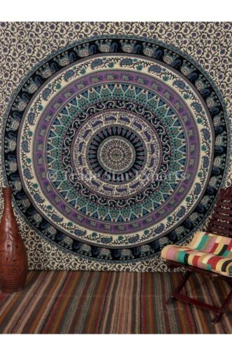 Indian Mandala Elephant Tapestry Queen Hippie Wall Hanging Cotton Tapestries
