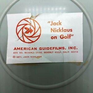 """Vintage 1971 8mm Film Reel with Cassette """"Jack Nicklaus on Golf"""""""