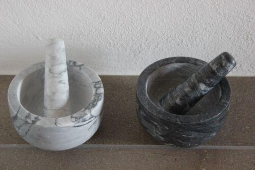 Mörser aus Marmor 12,5 x 7 cm♥wählb hell o dunkel♥Küchenhelfer Mörser m.Stößel