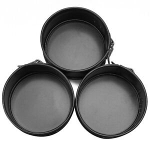 3pcs-Mini-Baking-Springform-Pan-Non-Stick-Cake-Dessert-Cheesecake-4-inch-LVR