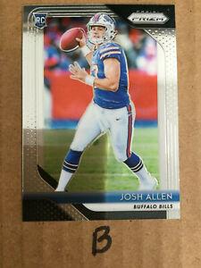 "2018 Prizm Josh Allen RC Buffalo Bills #205 Base Rookie Card ""B"""