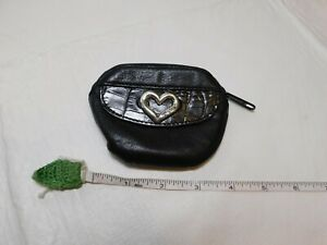 Brighton-small-change-coin-purse-holder-money-wallet-leather-black-silver-heart