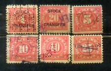 USA Documentary Stamps / Overprints Stock Transfer Old Stamps