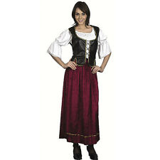 FEMALE EXTRA LARGE #WENCH PIRATE MEDIEVAL WOMAN COSTUME ONE SIZE FANCY DRESS