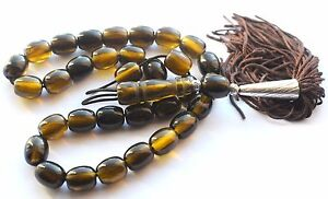 NEW WORRY PRAYER BEADS TESBIH (IMITATION BAKELITE CATALIN) 33 + 1 55 grams