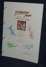 Movie Script - Cast Signed - Temple Of Doom - Spielberg