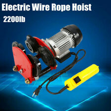 Electric Wire Rope Hoist With Trolley L Beam Links 2200lbs 4ft Cable Length Us