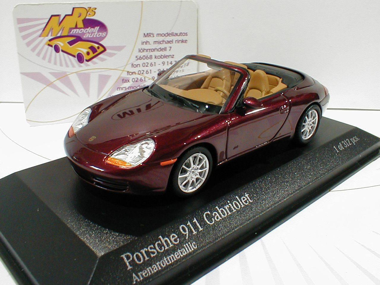 Minichamps 400061092   PORSCHE 911 (996) Cabrio anno di costruzione 1998 in  Marroneee  1 43