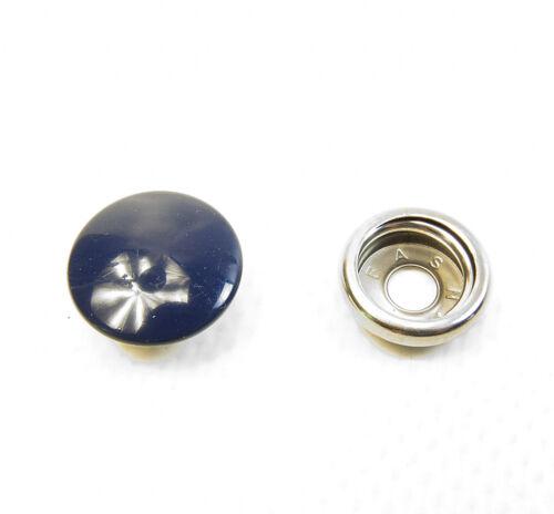 Cap /& Socket Only Stainless Steel 10 Piece Snap Fastener/'s Indigo Blue
