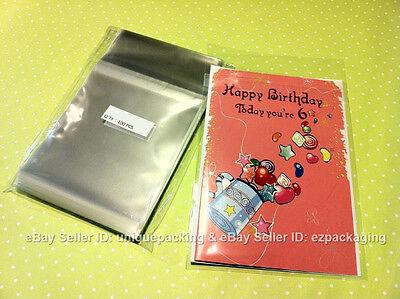 500 Pcs 3 5//8 x 5 1//8 Card Clear Resealable Poly Cello Cellophane Bags A1