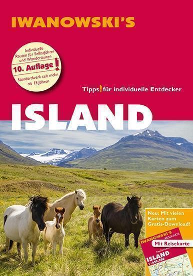Island mit Reykjavik 2016 ungelesen & Karte Iwanowski Reiseführer
