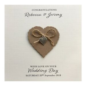 Personalised-Wedding-Day-Card-Heart-Charm