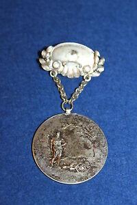Nr.3715 Gewichtheben Ö.k.v Silber Punze 1923 Wien D=3,6cm A.s.v Graf Orden Delikatessen Von Allen Geliebt