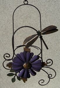 Hummingbird Feeder Dragonfly metal BYOB NEW recycle your own glass bottle
