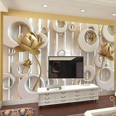 3D Wallpaper Livingroom Decal Mural Roll Modern Embossed Luxury Rose Background