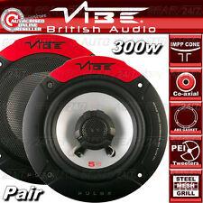 """Vibe Audio Pulse 5 5,25 """" 13cm 130 mm 300w COPPIA AUTO VAN PORTA Coassiale Altoparlanti Set"""