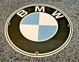 VINTAGE-BMW-AUTOMOBILE-PORCELAIN-METAL-GAS-DEALER-GERMAN-SALES-SERVICE-SIGN