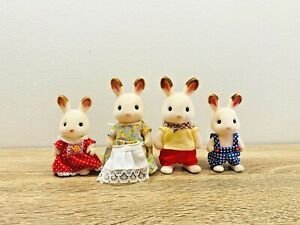 Sylvanian-Families-Chocolate-Rabbit-Family-Frasier-Teri-Peppermint-Coco-Freya