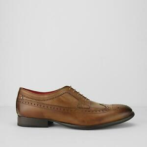 Base-London-Bailey-pour-homme-en-cuir-lustre-Bureau-Smart-Robe-Richelieu-A-Chaussures-Tan