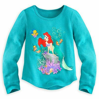 Disney Store Princess Tangled Rapunzel Long Sleeve Thermal T Shirt Girl Size 5//6