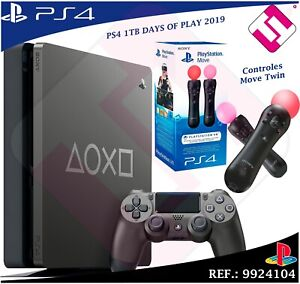 DAYS-OF-PLAY-PS4-1TB-2019-PLAYSTATION-4-EDICION-LIMITADA-CONTROLES-MOVE-TWIN