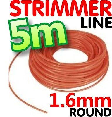 2 x 5 m Rotofil Corde Ligne Fil Ficelle en Nylon 2.4 mm round essence STIHL Flymo Heavy