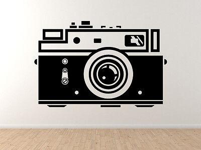 Vinyl Wall Decal Art Flash Film Digital Camera Silhouette Photography #1