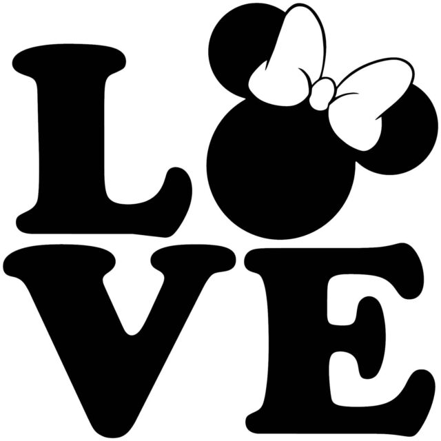 Mickey And Minnie Mouse Stickers.Love Mickey Minnie Mouse Sticker Sign Decal Car Cute Disney Newborn Suv Baby