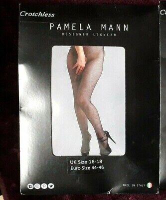 Pamela Mann 50 Denier Plus Size Crotchless Tights Fuller Figure Tights