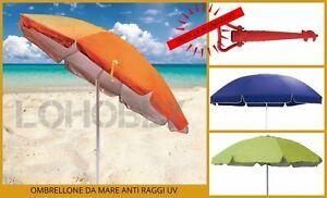 Ombrelloni Da Spiaggia Portatili.Dettagli Su Ombrellone Da Mare Per Spiaggia Anti Raggi Uv Orientabile Con Sacca Portatile