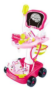 22 Pezzi Rosa Dottori Infermieri Gioco di Ruolo Medico Trolley Toy Luci Suoni