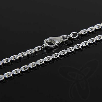 60cm MASSIVE ANKERKETTE Collier 925 SILBER Kette Diamantiert 1,8mm 7,3g 3683