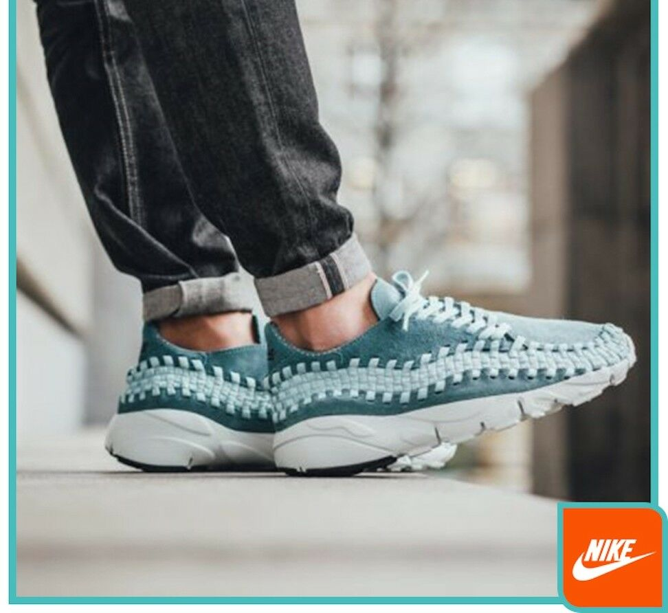Nike Air Footscape Woven NM Athletic Fashion Sneakers 875797 002 10.5 NEW bluee