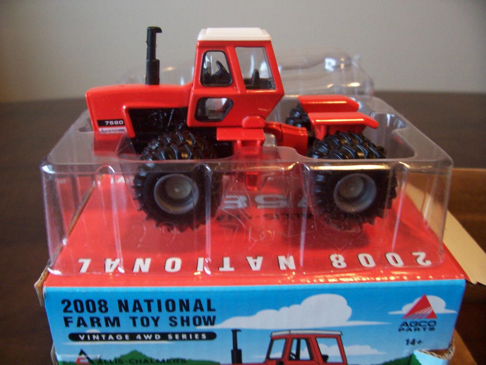 Ertl Juguete Granjero mostrar Vintage Allis Chalmers 7580 Tractor 1 64 Modelo 29710P 2008