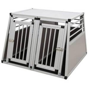 KERBL-Alu-Hundetransportbox-BARRY-zweituerig-Reisebox