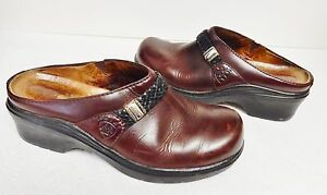 Ariat-ATS-Women-039-s-Mules-Clogs-Wedge-Shoes-Western-Leather-Braided-Brown-Size-7-B