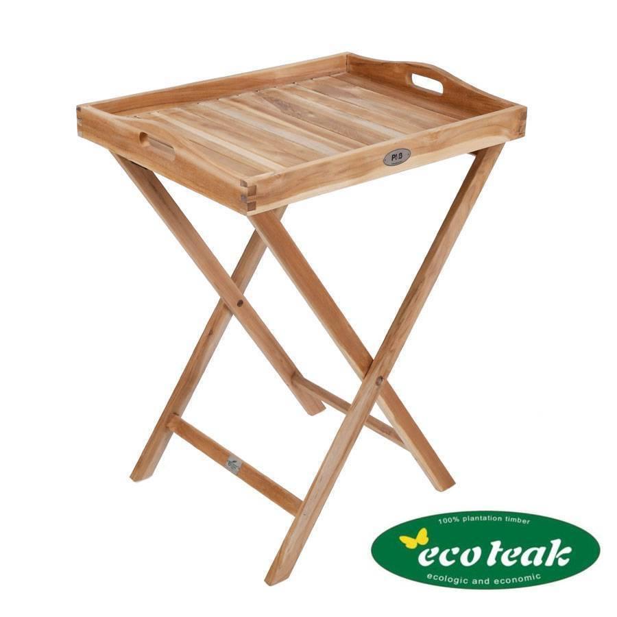 Ploss Eco-TEAK ® tavoletta con telaio TAVOLINO GIARDINO VASSOIO RIPIANO