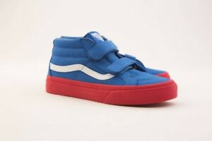 25f934a7b7 Vans Big Kids Sk8-Mid Reissue V blue red cosplay VN046YQR7
