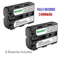 2x Kastar Battery For Sony Np-fm500h Slt-a65v Slt-a65vb Slt-a65vk Slt-a65vm