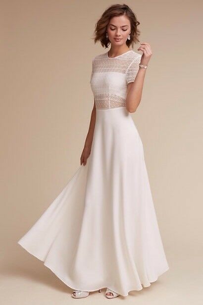 Anthropologie BHLDN Sau Lee Benson Dress Ivory Wedding Bridal Gown ...