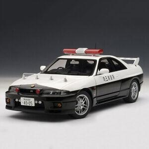 AUTOart-1-18-Nissan-Skyline-GT-R-R33-Police-Divison-GTR-Diecast-Model-Car-New