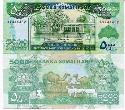 UNC 2015 2017 Somaliland 5000 5,000 Shillings P-21c