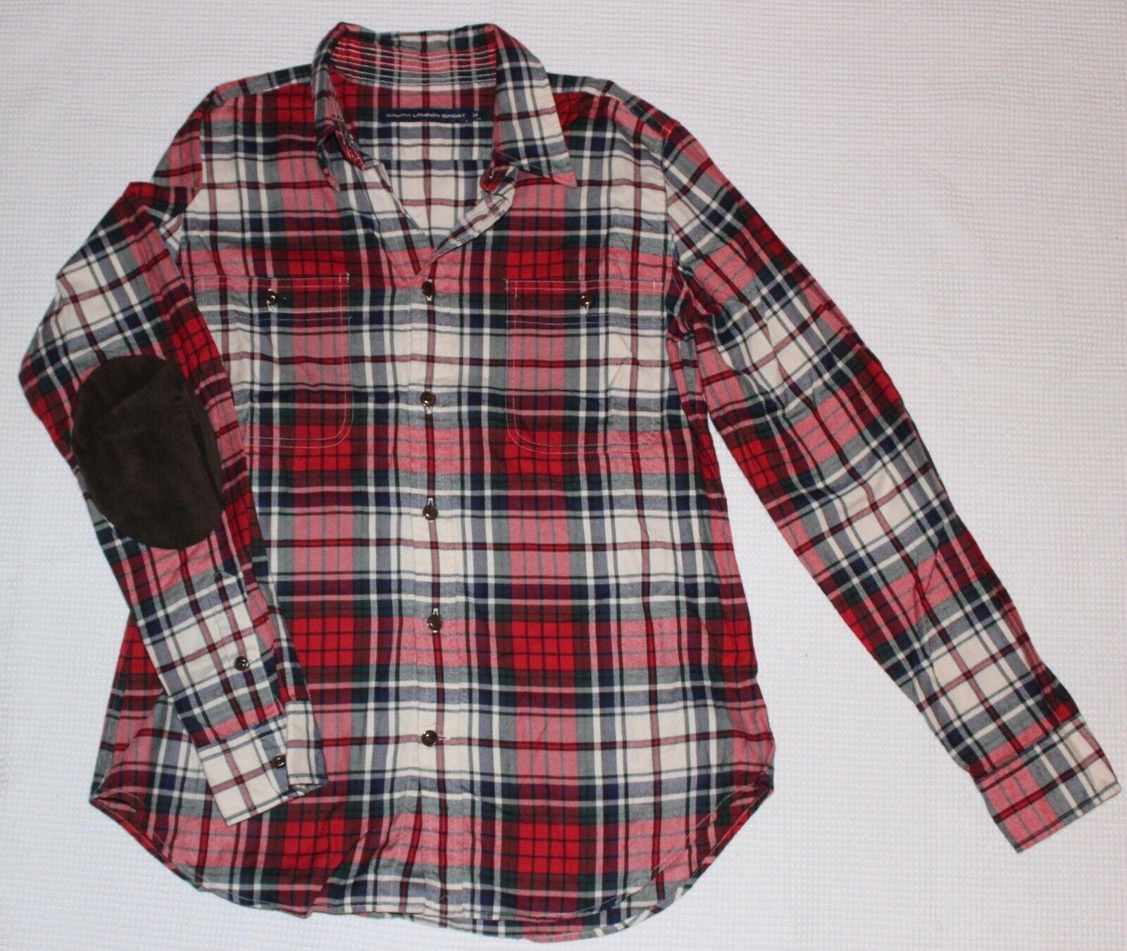 Ralph Lauren Sport Cowboyhemd Flanell NEUW rot-kariert Gr. 14   44