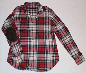 Plaid gr Shirt Sport rosso 44 Cowboy 14 Ralph Neuw Lauren Flannel wF4AAx